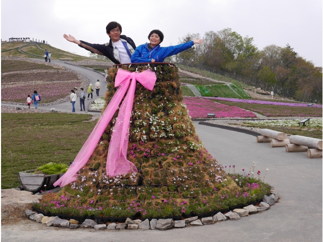 芝桜の丘に・・・